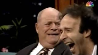 Don Rickles on Jay Leno w/ Roberto Benigni embracing absolute craziness 1995