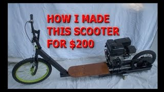 REVIEW of a go ped Bigfoot gas scooter - clamarca2011
