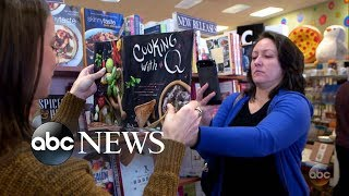 Woman rips out recipes from cookbook at book store | What Would You Do? | WWYD