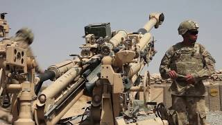 173RD AIRBORNE M777 HOWITZER FIRE MISSION - AFGHANISTAN