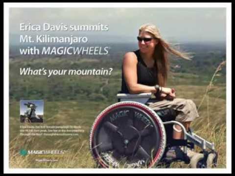Erica Davis Summits Mt. Kilimanjaro in a Wheelchair- using MagicWheels!