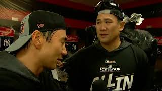 Masahiro Tanaka on advancing to the ALCS against the Astros