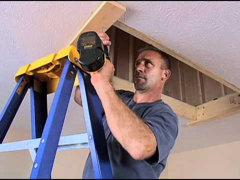 Werner Wood Attic Ladders Long Installation Video Youtube