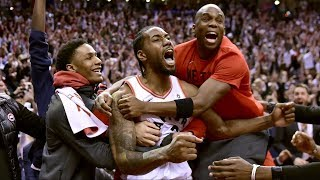Kawhi Leonard Game Winner Game 7 Shows Emotion! 2019 NBA Playoffs
