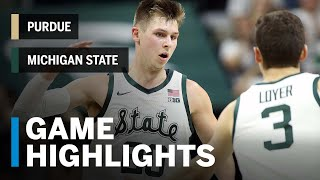 Extended Highlights: Purdue at Michigan State   Big Ten Basketball