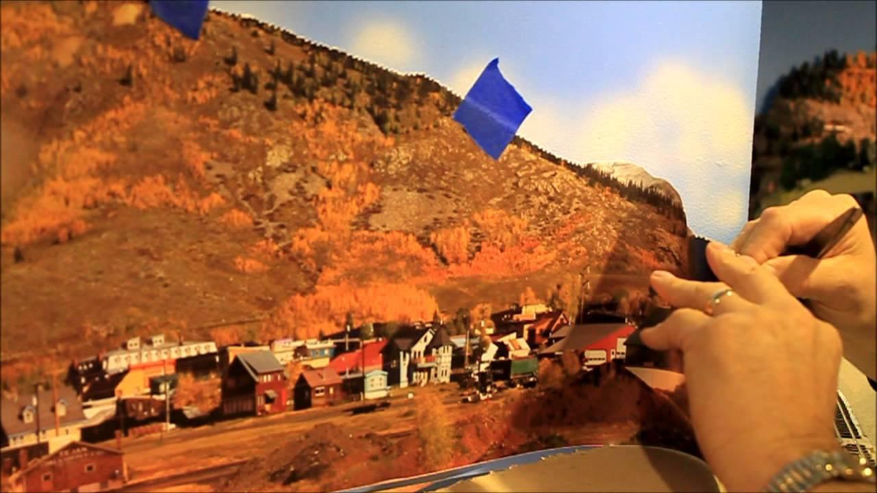 Backdrop installation for model railroads youtube - Model railroad backdrops ...