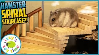 HAMSTER UPGRADES! Izzy's Toy Time makes some wood toy MEGA UPGRADES! Fun Toys for Kids
