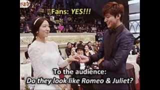 Lee Min Ho and Park Shin Hye SBS Drama Awards 2013