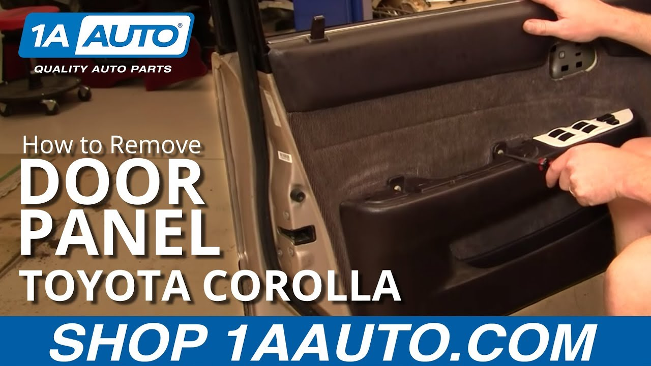 How To Install Replace Door Panel Toyota Corolla 94 97