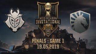 G2 vs TL [MSI 2019][19.05.2019][Finals][Game 1]