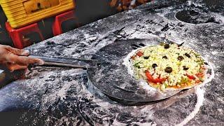 Wood Fired Cheese Blast Pizza   Street Food Pizza   Road Side Food Truck   Indian Street Food