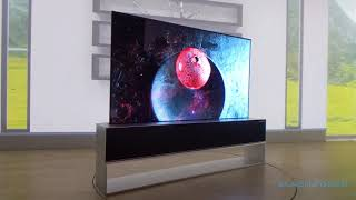 LG rollable TV at CES 2019 - LG Signature OLED TV R