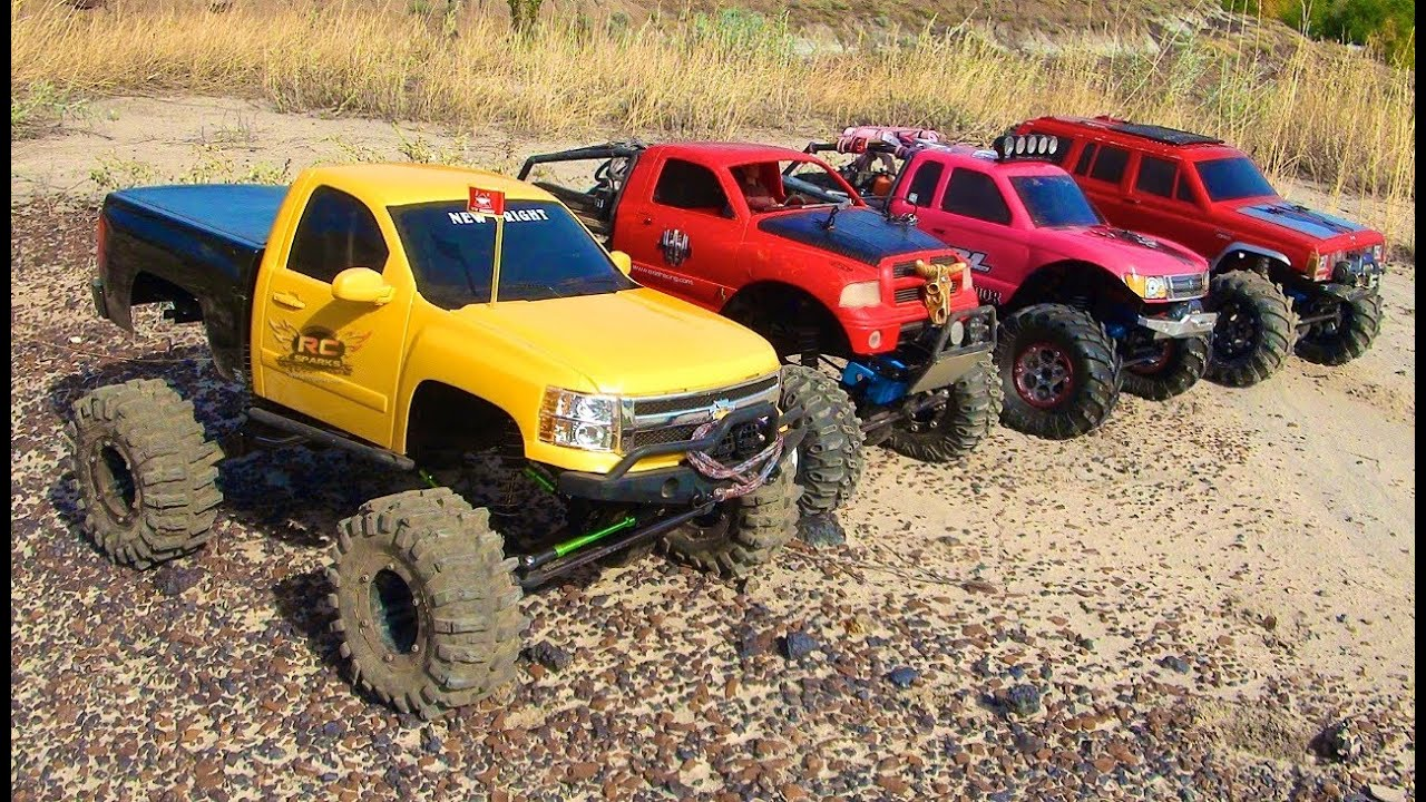 RC ADVENTURES - 4 SCALE RC 4x4 TRUCKS in ACTiON - on MARS ...