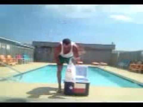 Matt Bowlin takes ALS Ice Bucket Challenge in Surf City, NC