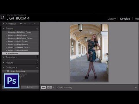 Редактирование фотографий в Lightroom - Установка пресетов в фотошоп