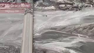 Aerial Footage of Historic Flooding in Nebraska