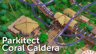 Parkitect Campaign (Part 5) - Coral Caldera - Inverted Terrain Coaster