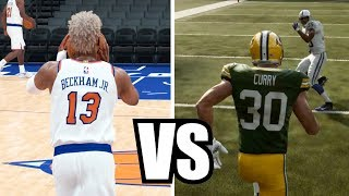 Can Odell Beckham Jr Get A Full Court Shot Before Steph Curry Can Catch A Touchdown?