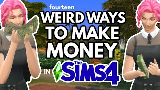14 Weird Ways to Make Money in The Sims 4 *without a job* #TheSims4 💸💵