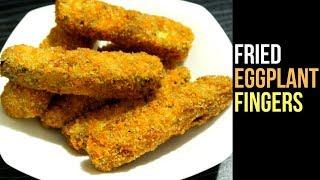Crispy Eggplant Fingers Recipe | Fried Eggplant Recipe | Brinjal Fry | Snacks Recipe By Nian's