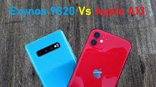 Samsung Exynos 9820 Vs Apple A13 Speed Test