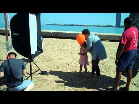 Chicago Special Parent cover shoot on North Avenue Beach
