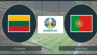 Lithuania vs Bồ Đào Nha Vòng Loại Euro 2020 PES 2019