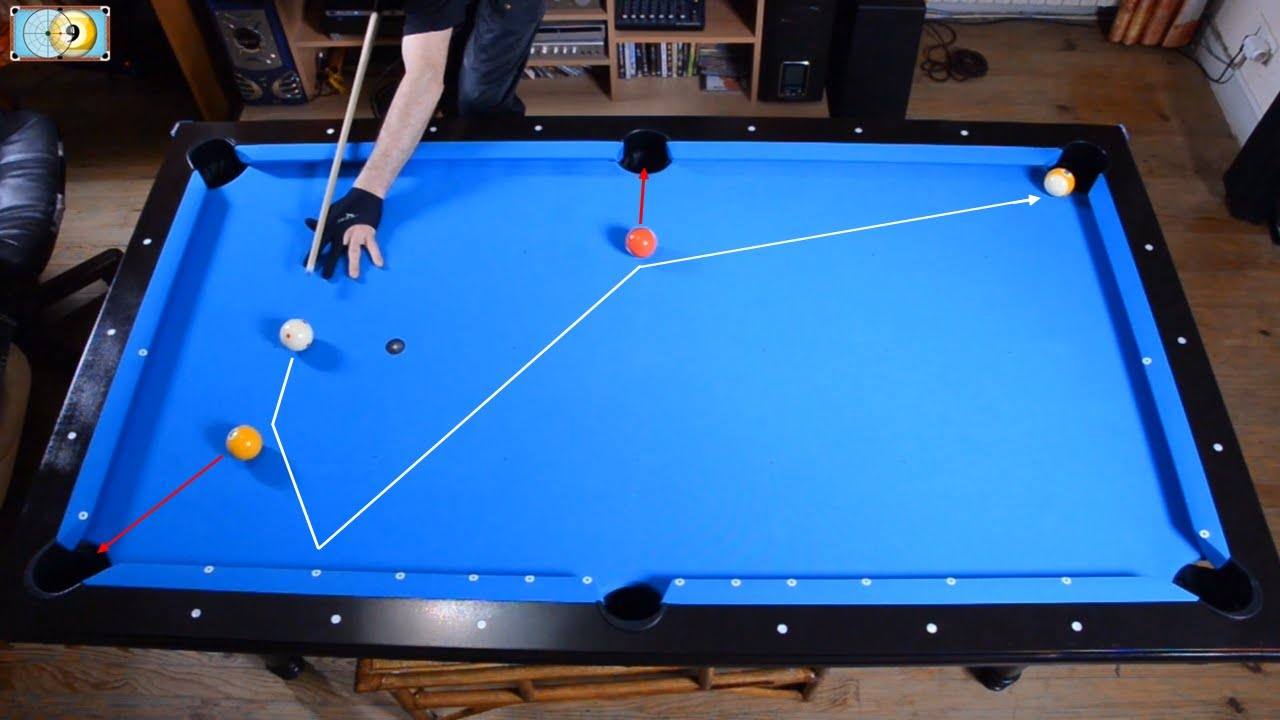 trickshots for beginners 1 pool trick shot. Black Bedroom Furniture Sets. Home Design Ideas