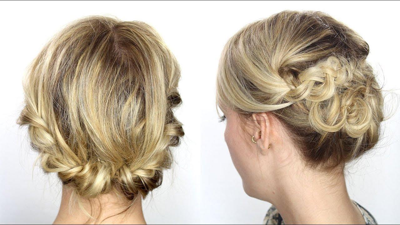tutoriel coiffure facile cheveux mi longs courts youtube. Black Bedroom Furniture Sets. Home Design Ideas