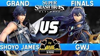 Smash Ultimate Tournament Grand Finals - Shoyo James (Chrom) vs GwJ (Lucina / ROB) - CN:B-Airs 166