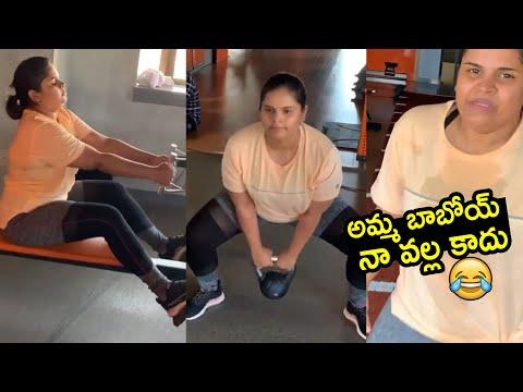Comedian Vidyullekha Raman shares workout video