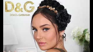Dolce & Gabbana Inspired Makeup GRWM \\ Runway Look