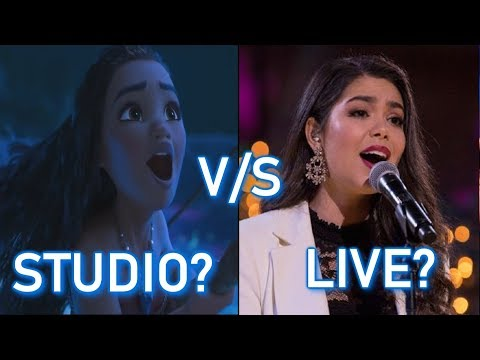 Disney Princesses - STUDIO vs LIVE performances