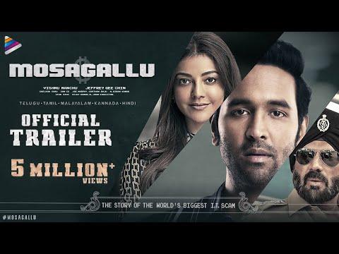 Mosagallu Telugu movie trailer- Vishnu Manchu, Kajal Aggarwal, Suniel Shetty