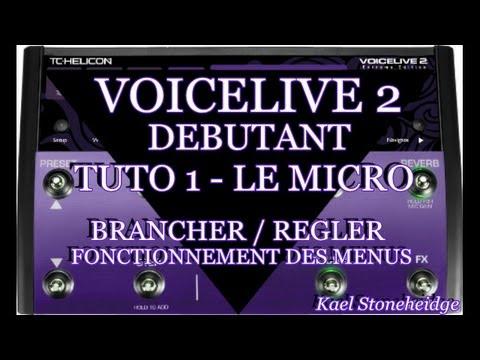 Voicelive 2 Débutant - Tuto 1 - Régler le Micro (Brancher) et Fonctionnement des Menus
