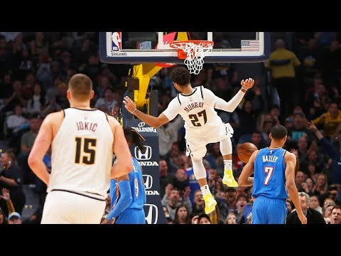 Jamal Murray Self Lob Off Glass vs Thunder! 2019-20 NBA Season