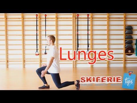 Skitræning - Øvelser til skiferie # 3 af 7 - Lunges - Skiferietips.dk