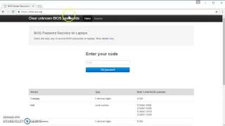 Bios Master Password Generator For Laptops   recover BIOS password