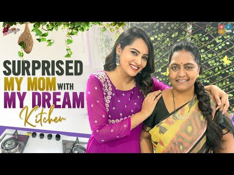 Himaja surprises her mom with new dream kitchen