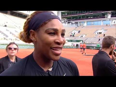 Serena Williams: 2019 Roland Garros First Round Win Tennis Channel Interview