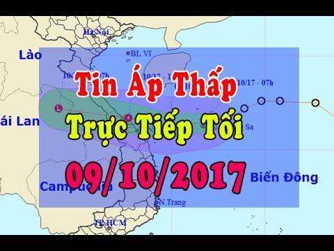 Tin Thời Sự Hôm nay (18h30 - 09/10/2017) : Áp thấp khả năng mạnh thành bão vào Hà Tĩnh - Quảng Bình