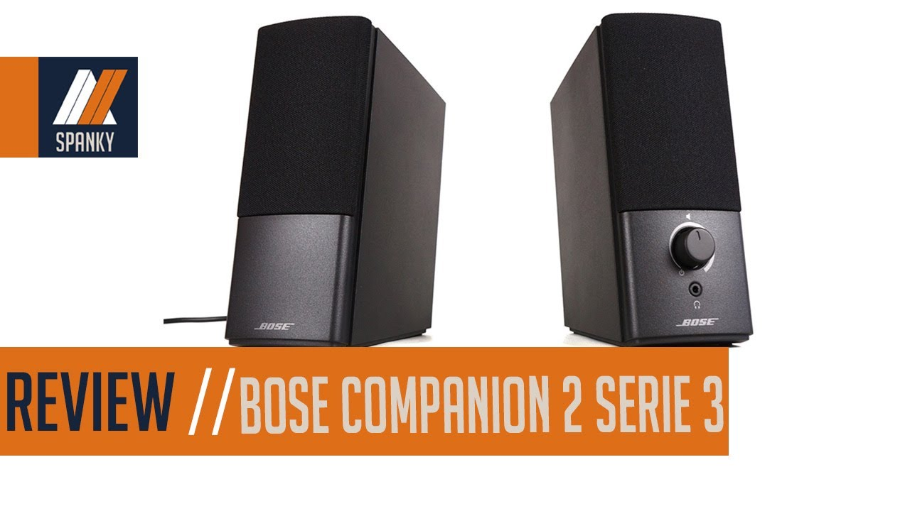 review enceinte bose companion 2 serie 3 youtube. Black Bedroom Furniture Sets. Home Design Ideas