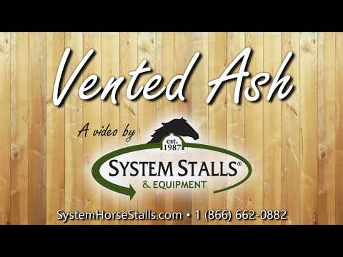 Vented Ash Horse Stall Door Option