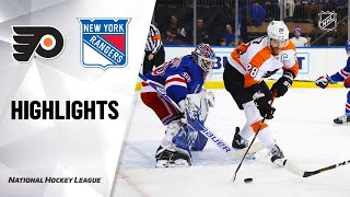 NHL Highlights | Flyers @ Rangers 3/1/20