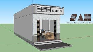 Nhà cấp 4 Đơn giản , Thiết kế nhà 3D - nhà cấp 4 nhỏ và rẻ tiền | #SAH