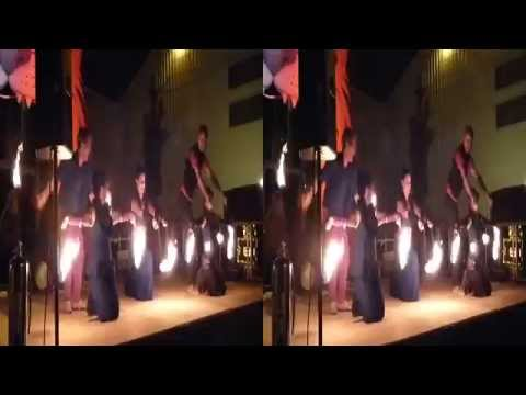 Fire Dancers perform @ Decompression 2015 (YT3D:Enable=True)