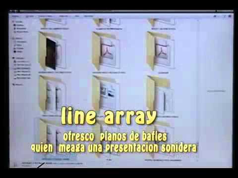 PLANOS Y DISEÑOS LINE ARRAY