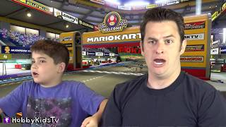 Lets Play Nintendo SWITCH and Race the HobbyKids GO-KARTS