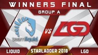 Liquid vs LGD Winners Final Starladder i-League 2018 Highlights Dota 2
