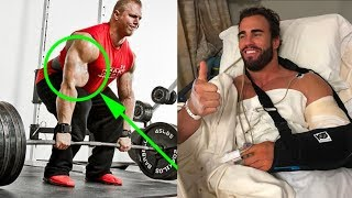 Biceps tears during deadlifts, bicep tendon Injury compilation